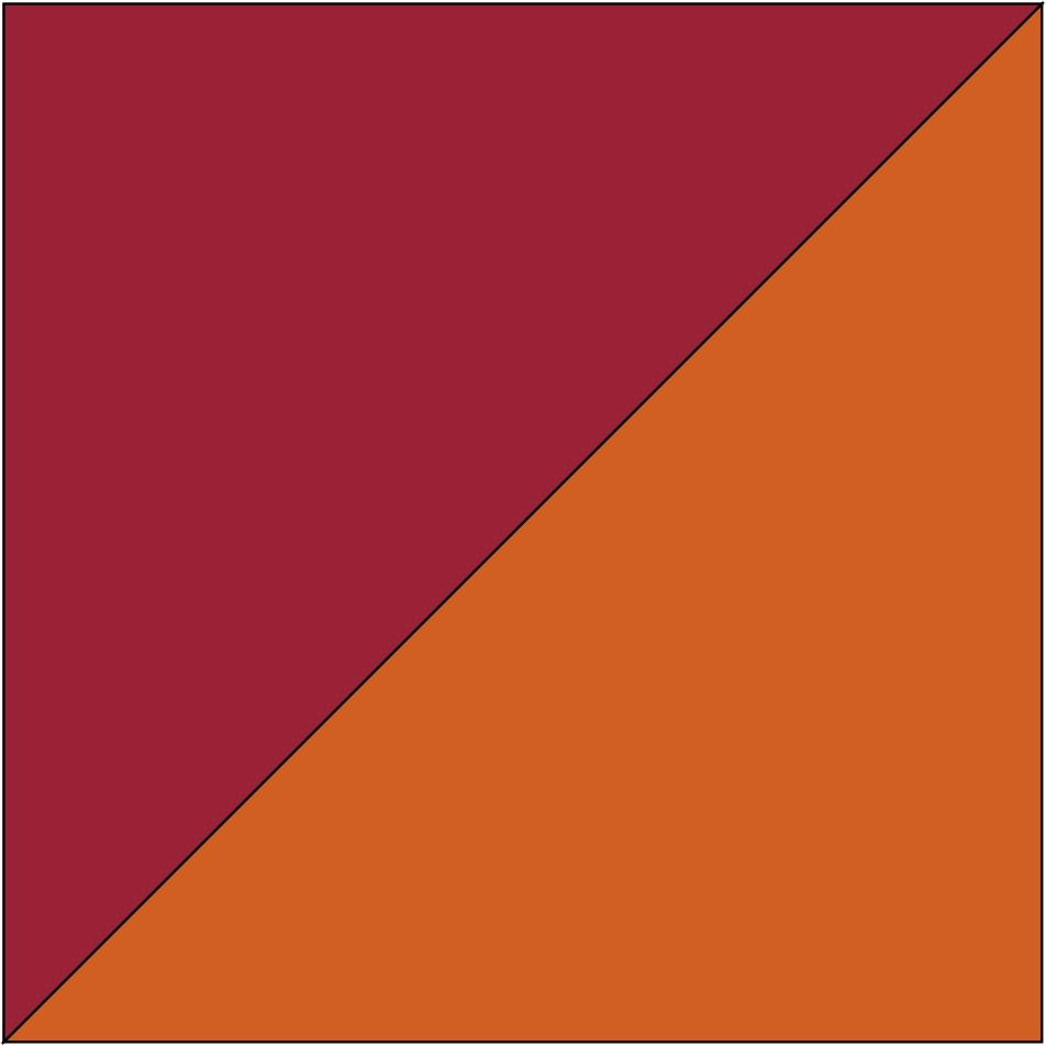 Bordeaux/Orange