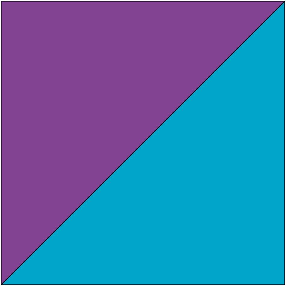 Violett/Türkis